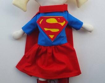 Custom Super Girl or Boy- maylo studio doll ragdoll handmade nursery superhero girl boy nursery decor blonde hair