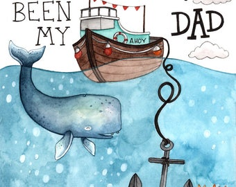 Anchor Father's Day Card