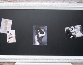 "LARGE CHALKBOARDS For KITCHENS Magnetic 54""x30"" Unique Gift White Framed Black board Kitchen Home Office Furniture Unique Interior Signage"