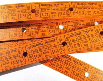 Movie Theatre Tickets VINTAGE Theater Tickets Twenty Five (25) Tickets Cardboard Vintage Scrapbooking Collage Jewelry Altered Art (M103)