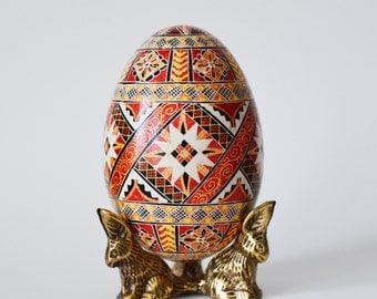 Father's Day gift Traditional Goose Egg Pysanka Ukrainian Easter egg