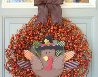 Thanksgiving Wreath - Fall Thanksgiving Wreath - Fall/Autumn Wreath - Fall Door Wreath - Fall Door Decor Wreath