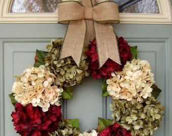Christmas Wreath - Holiday Wreath - Red Berry Christmas Wreath