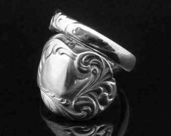 Ornate Victorian Spoon Ring, Rialto 1894