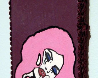 Mounted Artwork ~ Wigging Out ~ Mixed Media Pop Art
