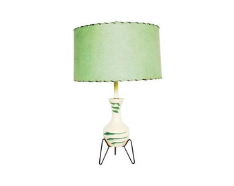 Mid Century Ceramic Tripod Base Lamp