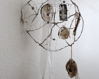 WIRE art SEA Dream Catcher, Sea CROWN crusty, Cartapesta wire, oyster Culinary catcher, Salvage, Jeanne d arc Living Style