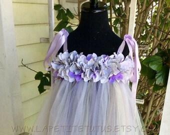 Mix tulle  floral tutu dress, tutu dress, pearl centers, infant tutu dress, toddler tutu dress, photo prop, tutu, clothing, girls tutu dress