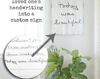 Handwriting Custom Memory Sign 24x30 {semi-custom}