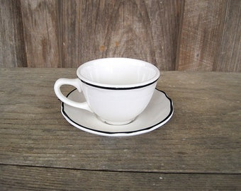 Vintage Homer Laughlin Restaurant Ware Cup and Saucer
