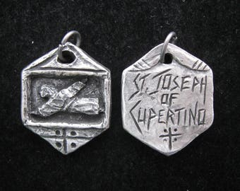 St. Joseph of Cupertino: Patron of Pilots (and Nervous  Passengers); Handmade Pendant