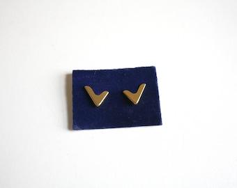 German Gold Tone Collar Clips