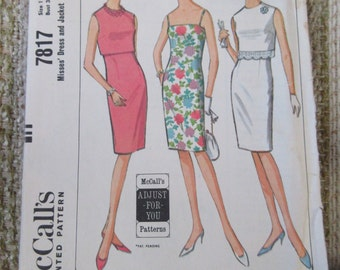 McCall's Size 12 Misses' Dress and Jacket Pattern 7817