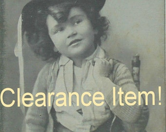 Vintage French Postcard - Boy with a Bottle Over His Shoulder (Clearance Item)