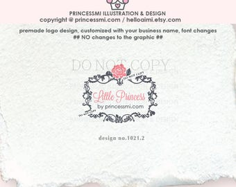 1021-2  Damask logo,  frame logo,  rose logo. flower , photography watermark, boutique logo, photography logo , business watermark