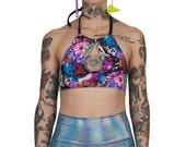 Reserved for Abby (boootyqueen) Psychedelic Halter Top