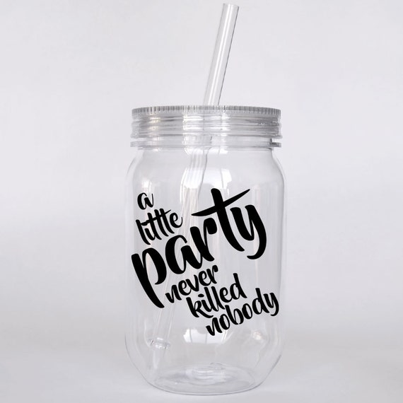 Personalized Tumbler With Gatsby Quote Roaring 20s Party Favor