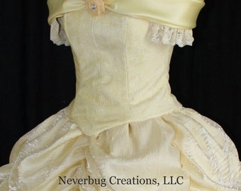 Adult Beauty and the Beast New Parks Costume (Butter Yellow)