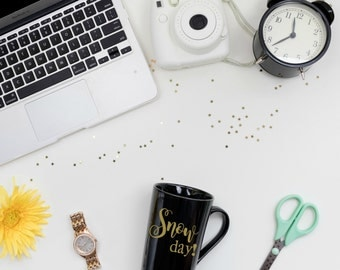 Snow Day Mug, Snow Day Coffee Mug, Co-worker Gift, Teacher Gift, Winter Mug, Snow Mug, Winter Coffee Mug, Black Coffee Cup, Gift for Teacher