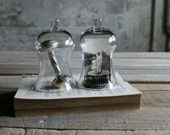 Set of 2 Vintage Bell Shape Glass Cloches