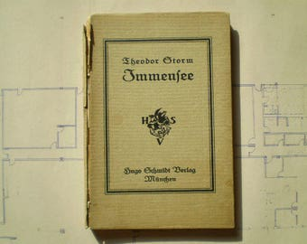 Immensee - 1919 - by Theodor Storm - Antique German Novella