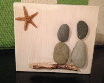 Beach rock family (free shipping!)