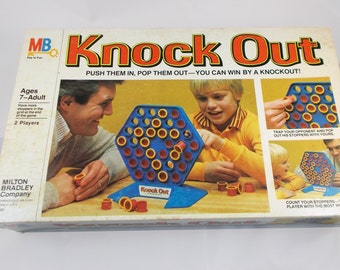 Vintage 1978 Knock Out Board Game by Milton Bradley 100% Complete