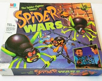 Vintage Spider Wars Board Game 1988 Toy 100% Complete 80s Toy Milton Bradley