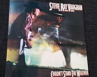 Original Stevie Ray Vaughn Promo Poster 12x12 1984 Record Store Display Couldn't Stand The Weather