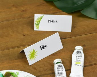 Tropical Wedding Name Place Cards - Wedding Name Tags - Rustic Wedding Name Cards - Rustic Wedding Stationery - On the Day Stationery