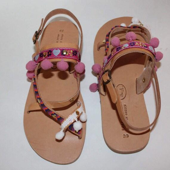 SALE Bohemian sandals! Gladiator sandals!Boho sandals, decorated  sandals, sandales grecques