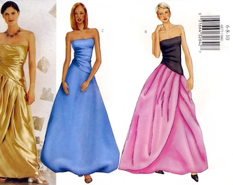 Butterick 6877 Misses' Evening Dress Sewing Pattern - Uncut - Size 6, 8, 10