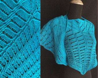 Hand Knitting Pattern PDF Ventral Shawl - Complex Lace - Wearable Art