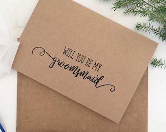 Groomsmaid, Alternative Wedding, Party Cards, Grooms Lady, Groomsmaid Proposal Card, Rustic Wedding Cards, Groomsman Invitation, Groomsmen