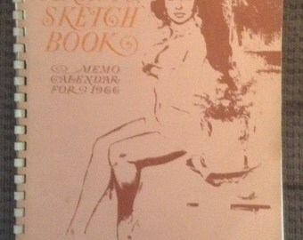 Vintage Artist Sketch Book, Fritz Willis, Memo Calendar, Pin-Up Girls, 1966