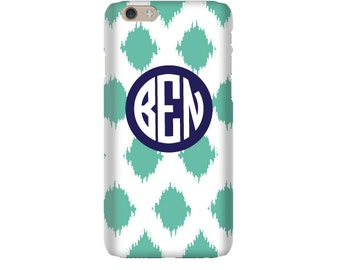 Monogram iPhone 7 Plus * 7 * 6/6S Plus * 6/6S * SE premium ikat phone case personalized with name or initials