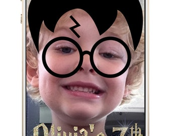 Custom Harry Potter SnapChat Filter - Wear Harry's Glasses and Scar - GeoFilter