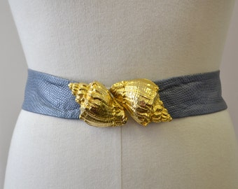 1980s Maureen Elaine Conch Shell Belt