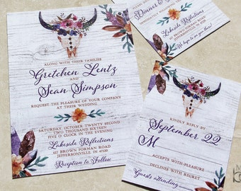 Tribal Wedding Invitations
