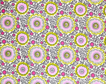 Summer dress floral fabric, retro modern floral fabric, 100% cotton for Quilting crafting and all sewing projects.