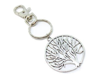 Tree of Life Silver Keychain
