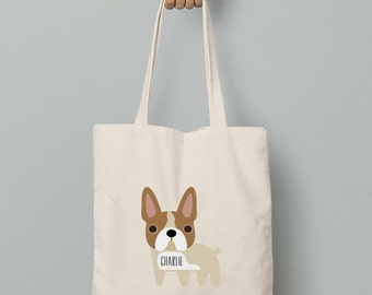 French Bulldog canvas tote bag personalized just for you