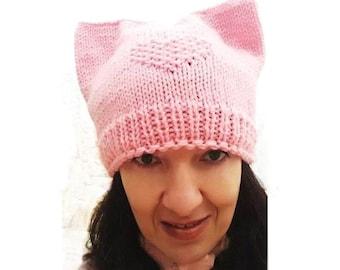 Pink Cat Hat, Pussycat Hat, Pink Hat, Pussyhat Project