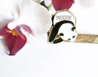 Snoozin' Sleepy Panda Enamel / Lapel Pin