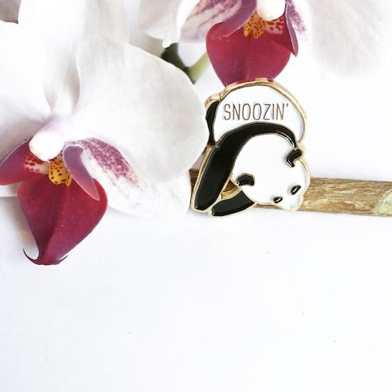 Snoozin' Sleepy Panda Enamel / Lapel Pin
