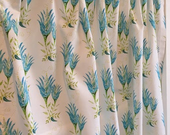 Pretty Turquoise & Lime Green Cafe Valance, Curtains, Window Treatments for Kitchen, Bedroom or Bathroom