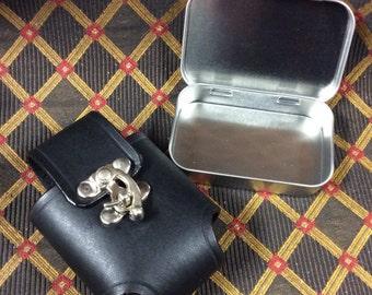 Altoids style tin LEATHER belt pouch EDC