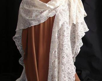 Open Front Lace Jacket womens jacket ruana wrap wraps and shawls fantasy shawl fantasy shawl fantasy clothing plus size clothing sari sarong