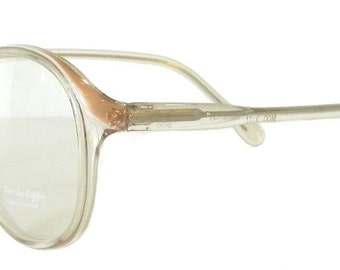 vintage 1980s clear eyeglass frames