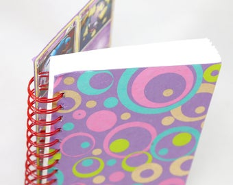 Pokemon Cards spiral bound pink circles sketchbook